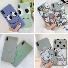 Simple cartoon TPU soft silicone phone case for iPhone X XS XR XSMax 8 7 6 6S PluS cute drop protection cover