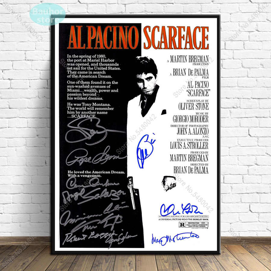 signature movie scarface painting al pacino poster print decorative wall pictures for living room no frame home decoration