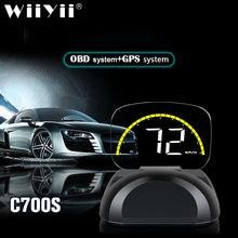 Wiiyii c700s автомобильный hud Дисплей obd2 gps система превышение