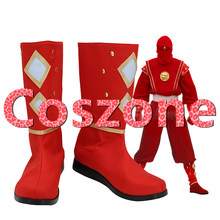 Super Sentai Red Ninja Cosplay Shoes Boots Halloween Carnival Cosplay Costume Accessories(China)