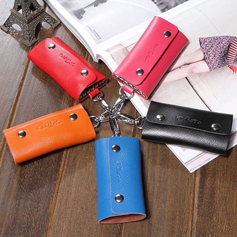 2019 New Buckle Key  Leather Cowhide Card Holder