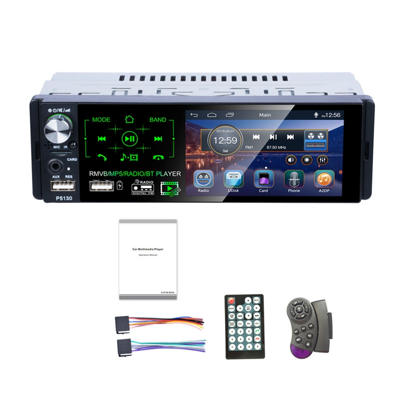 1Din autoradio 4.1 pouces presse écran Audio stéréo multimédia Mp5 lecteur Bluetooth Am/Fm/Rds Radio