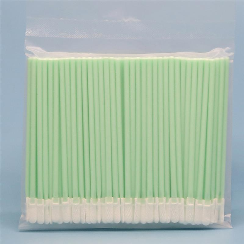 100Pcs Multipurpose Flat Tip Cleaning Swabs PP Rod Industrial Sponge Stick For USB Port Optical Equipment Optical Lens Cleaning