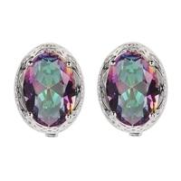 Eulonvan luxury 925 sterling silver Wedding Earrings Jewelry & Accessories For Women dropshipping Rainbow Cubic Zirconia S 3714