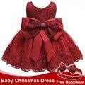 Roupas da menina do bebê 1st aniversário meninas tutu vestido de casamento vestido de natal vermelho vestido de festa de noite vestidos de princesa para a menina