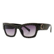 Men's Square Sunglasses Vintage Luxury Brand Designer Women
