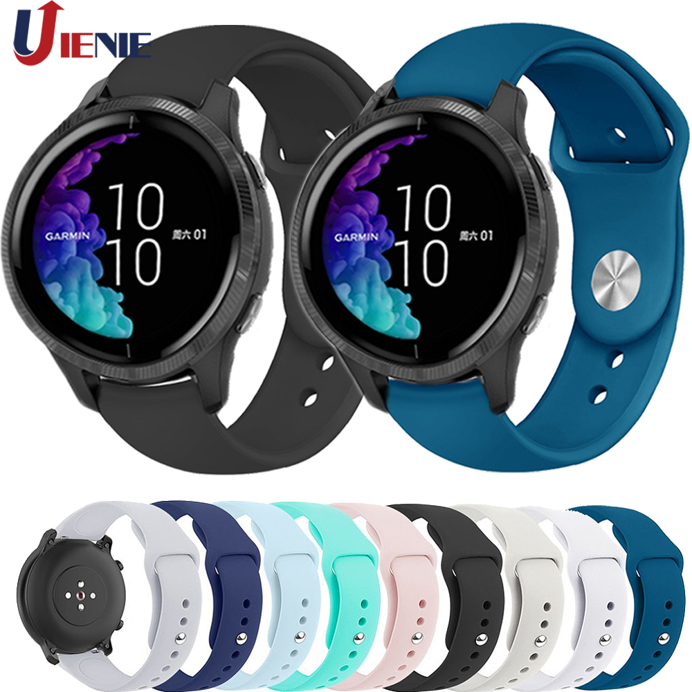 20mm Silicone Strap Watchband For Garmin Venu/GarminMove 3 Luxe Style/Vivoactive 3 Smart Watch Bracelet Sport Wristband Correa