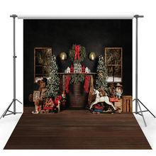 Фон для фотосъемки Рождество кирпичная стена камин фон Рождественская