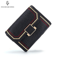 2020 Fashion Small Card Holder Wallet Genuine Leather Lady Card Wallet Soft Female Wallet for Card Holder Ladies Purse Short Bag new brand wallet portefeuille femme for 2016 fashion purse women leather short small bag womens solid card holder gift 1pcs
