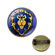 Game World of Warcraft Tribal Logo Pins Brooches Alliance Horde WOW Badge Brooch for Women Men Jewelry Gift(China)