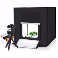 Light Box 60*60CM Portable photo Studio With 4 Color Background For Photo Studio tent Photography LED light Tabletop Shooting