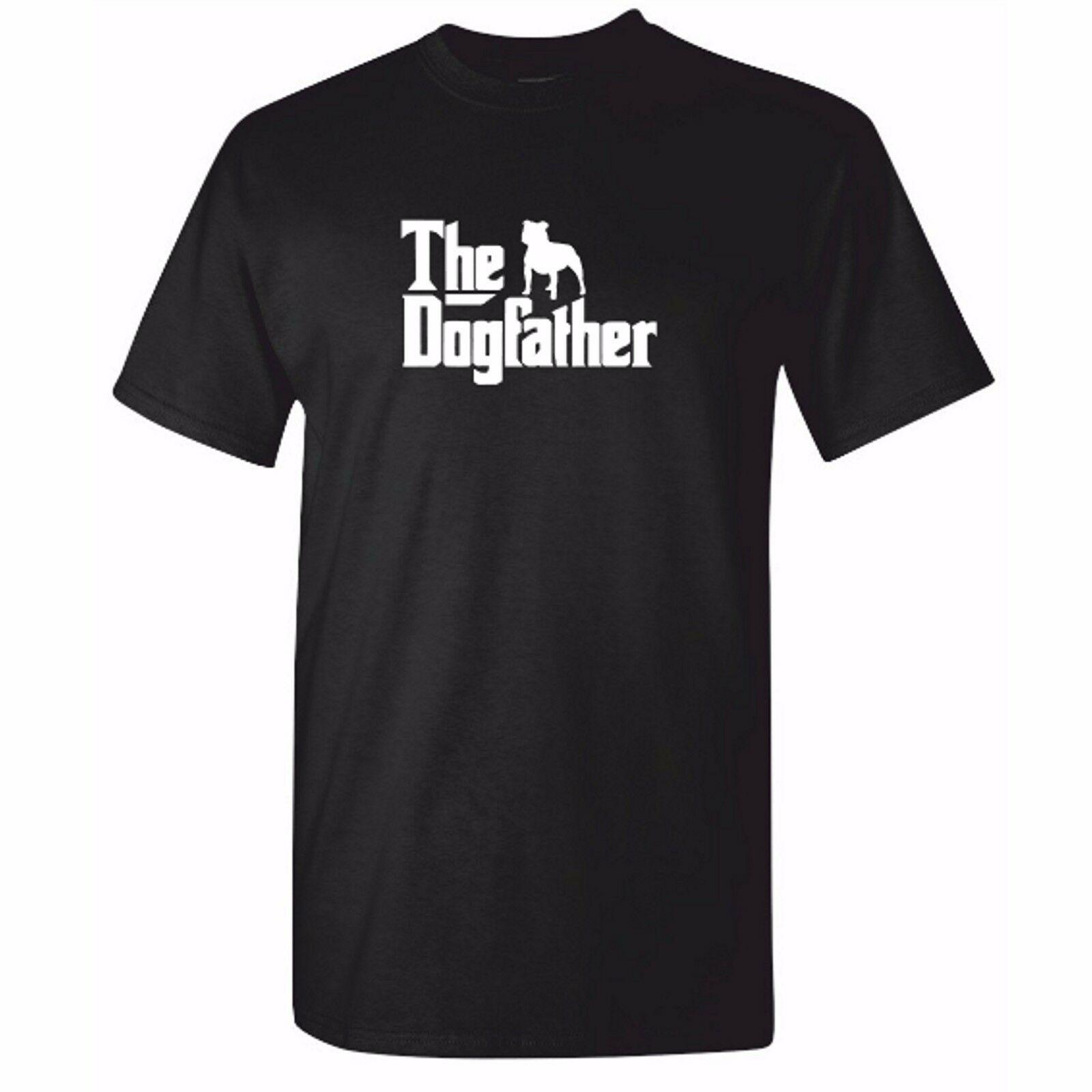Mens White Dog Mugshot Staffordshire Bull Terrier T-Shirt Criminal K9 TShirt