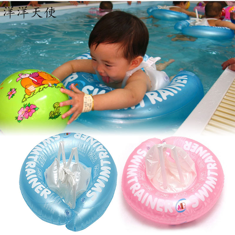 Swimming Ring Floaty Inflatable Baby Bath Beach Toys Safety Arm Underarm Swim Ring Kid Toys For Child With Strap Adjustable Size