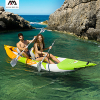 2020 New Aqua Marina Inflatable kayak 1/2 person STEAM/BETTA/TOMAHAWK PVC boat canoe for water sports Reinforced Kayaking dinghy