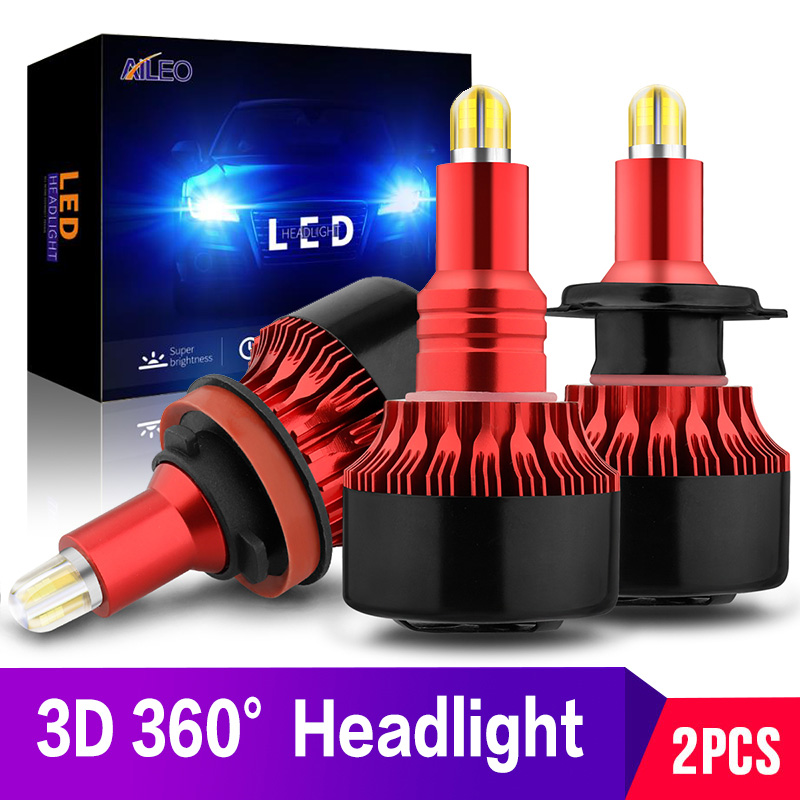 AILEO 3D 360° CSP 14000LM H8 H11 Fog light h7 <font><b>LED</b></font> Headlight HB3 9005 HB4 <font><b>H3</b></font> H16 880 881 H27 <font><b>LED</b></font> H1 9012 HIR2 Auto Lamp 12V <font><b>6000K</b></font> image