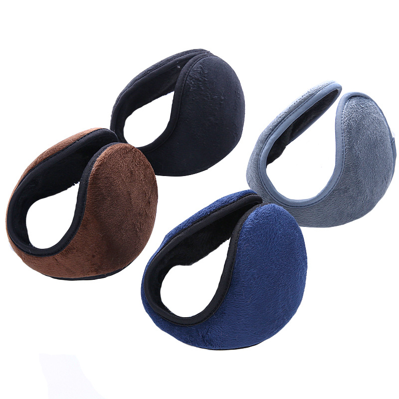 Fashion Winter Earmuffs Soft Thicken Plush Cover  For Men Warmer Earflap Cotton All Inclusive Four-color