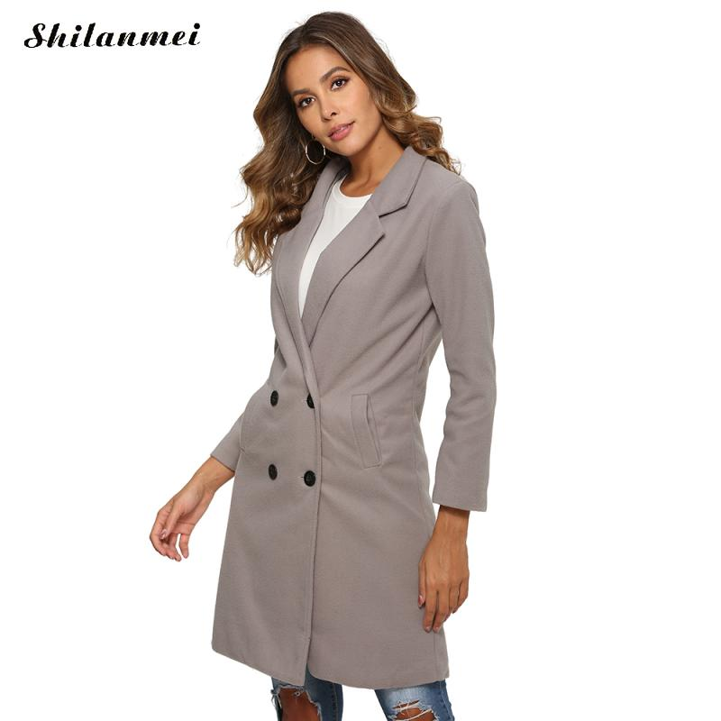 2019 Autumn Winter Blazer Women Jacket Long Sleeve Office Ladies Blazer Feminino Plus Size Causal Formal Blazer Outerwear Coats