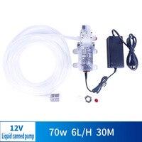 12V 70W Food Grade Electric Diaphragm Pump Drain Pump Pump Set DC Self priming Manual Push Button Switch