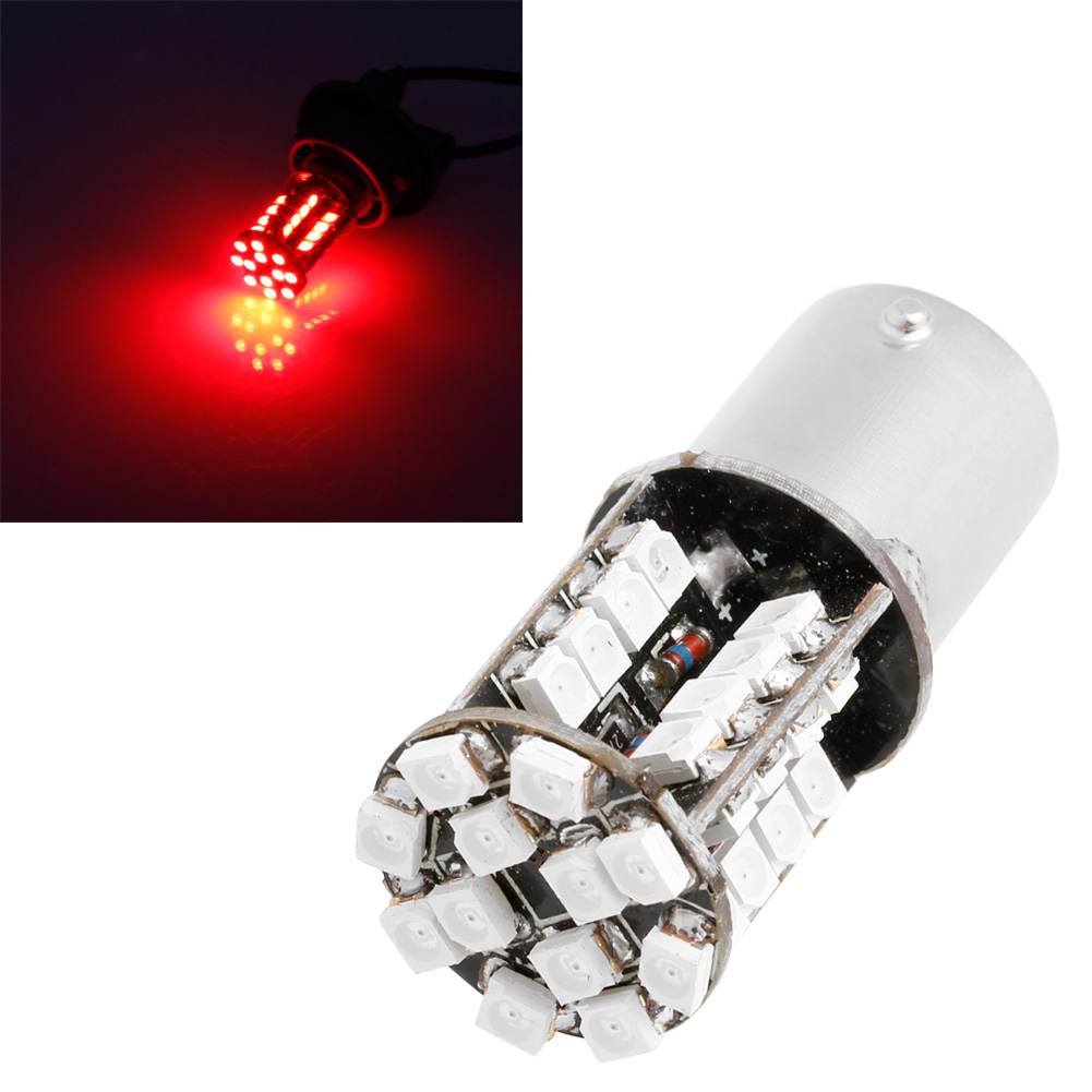 <font><b>12V</b></font> DC 1156 3528 44 SMD <font><b>LED</b></font> Brake Light Lamp Bulb Canbus Error Free Red New E7CA image