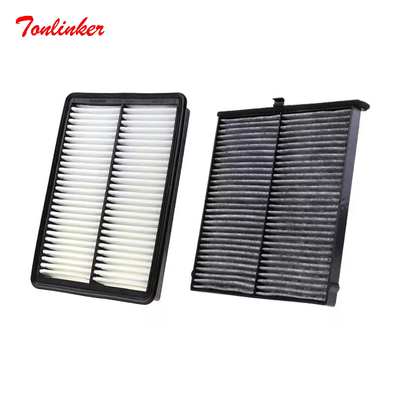 Air Filter Cabin Filter 2 pcs <font><b>For</b></font> <font><b>Mazda</b></font> 3 Axela <font><b>CX</b></font>-4 <font><b>CX</b></font>-<font><b>5</b></font> 2.0 2.<font><b>5</b></font> Model <font><b>2012</b></font> 2014 <font><b>2016</b></font> 2017-Today Car Accessoris Filter Set image