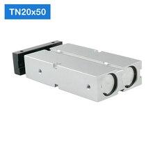 Cilindro neumático de aire de doble acción TN20 x 50 s, cilindro de aire compactos de carrera de 20mm, 50mm, TN20X50 S, Envío Gratis