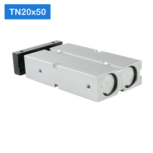 TN20 * 50 S משלוח חינם 20mm נשא 50mm שבץ קומפקט אוויר צילינדרים TN20X50 S כפולה פעולה אוויר פניאומטיים גליל