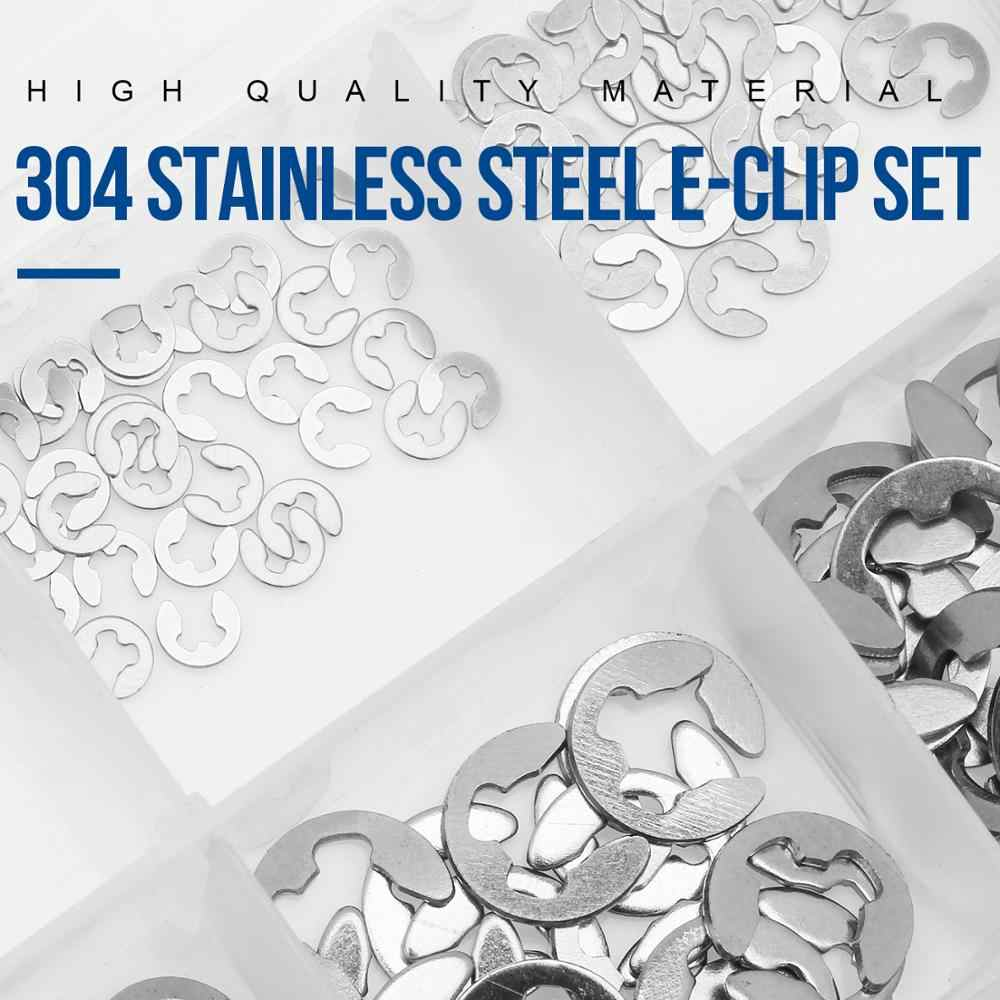 Good wear Resistance Bclla Zkenshan-washers 290pcs E Clip Circlip Washer Assortment Kit Steel 1.2-15 mm External Retaining Ring Clip for Pulleys Shaft