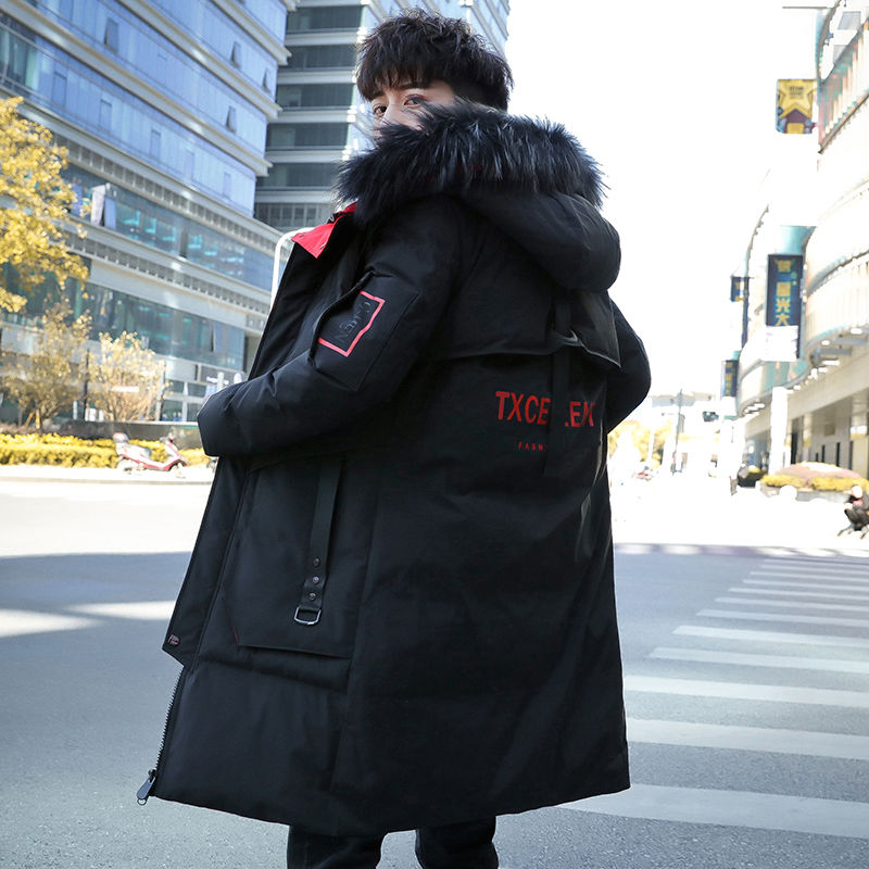 Men's Winter Jacket New Winter Cotton Coat Men's Long Section Trend Youth Handsome Camouflage Clothes Casual Jacket