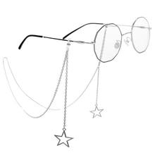 New Fashion Vintage Metal Women Eyeglass Chain Hollow Star Sunglasses Reading Glasses Lanyard Eyewear Holder Neck Strap Rope