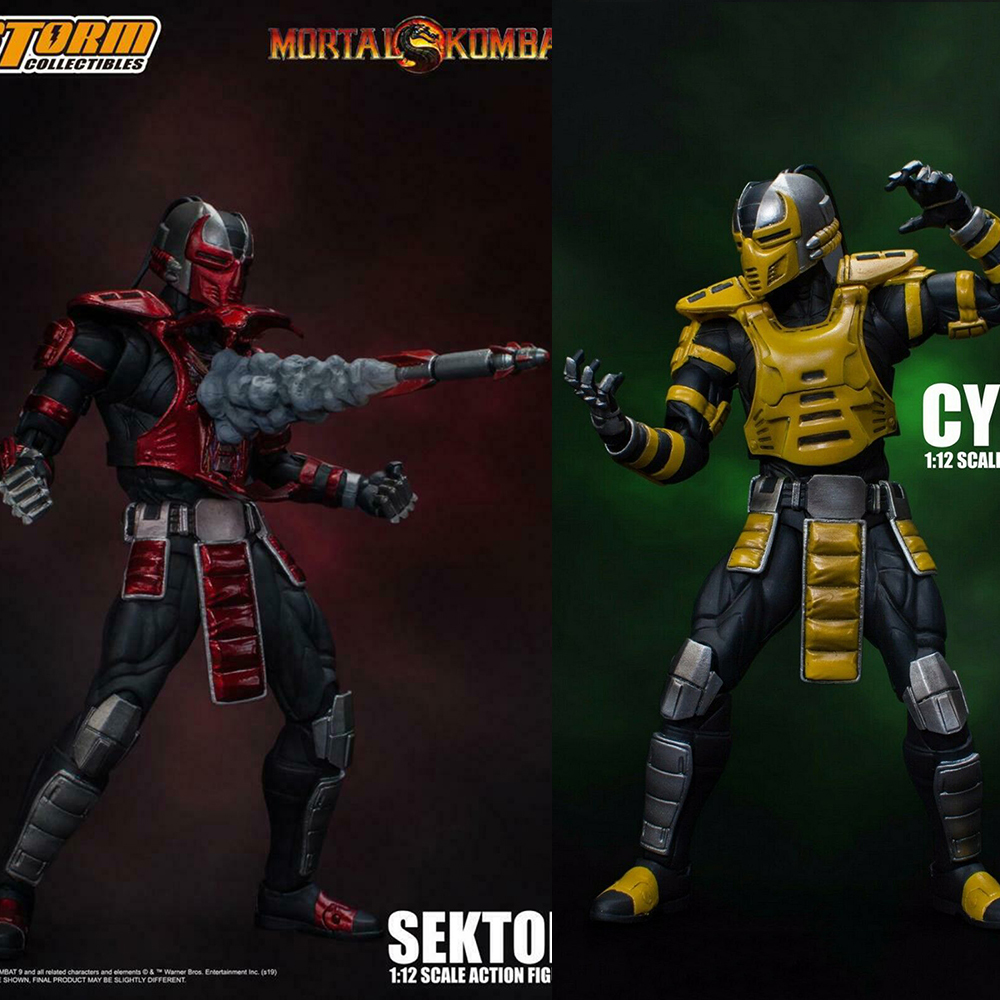 Storm Toys 1/12 CYRAX Mortotal Kombat / DCMK002 Mortal Combat Full Set Action Figure  6'' Doll Model Collection