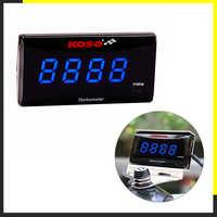 Koso Mini RPM mètre numérique carré LCD affichage moteur Tach heure mètre tachymètre jauge pour BMW YAMAHA KAWASAKI course moto