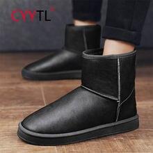 Cyytl 2020 мужские водонепроницаемые хлопковые ботинки с толстой