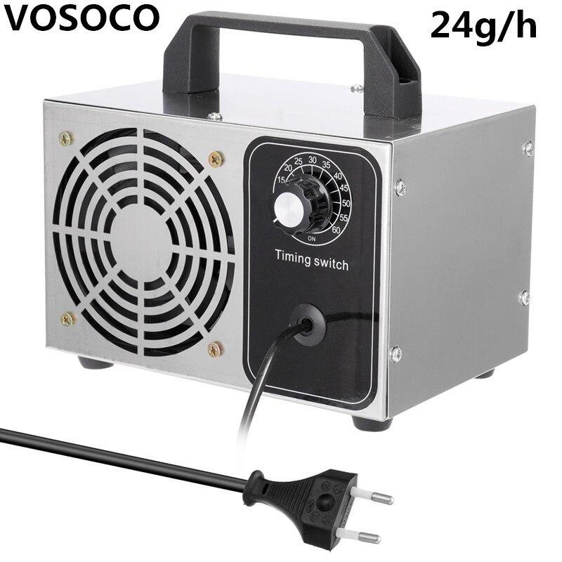 Ozone Generator Household 220V 24g/h Air Purifier Ozonizador Machine O3 Ozono Generator Deodorant Disinfection Equipment
