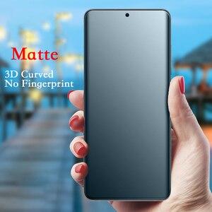 Image 1 - Матовая пленка для Samsung Galaxy S20, A51, A50, Note10 plus, 3D изогнутая защитная пленка без отпечатков пальцев, матовая Гидрогелевая пленка, не стекло