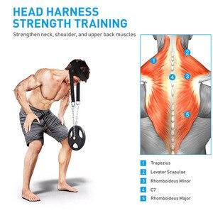 Регулируемый ремень для тренировок на шее, регулируемый ремень для тренировок на шее, для спортзала, фитнеса, с подшипником