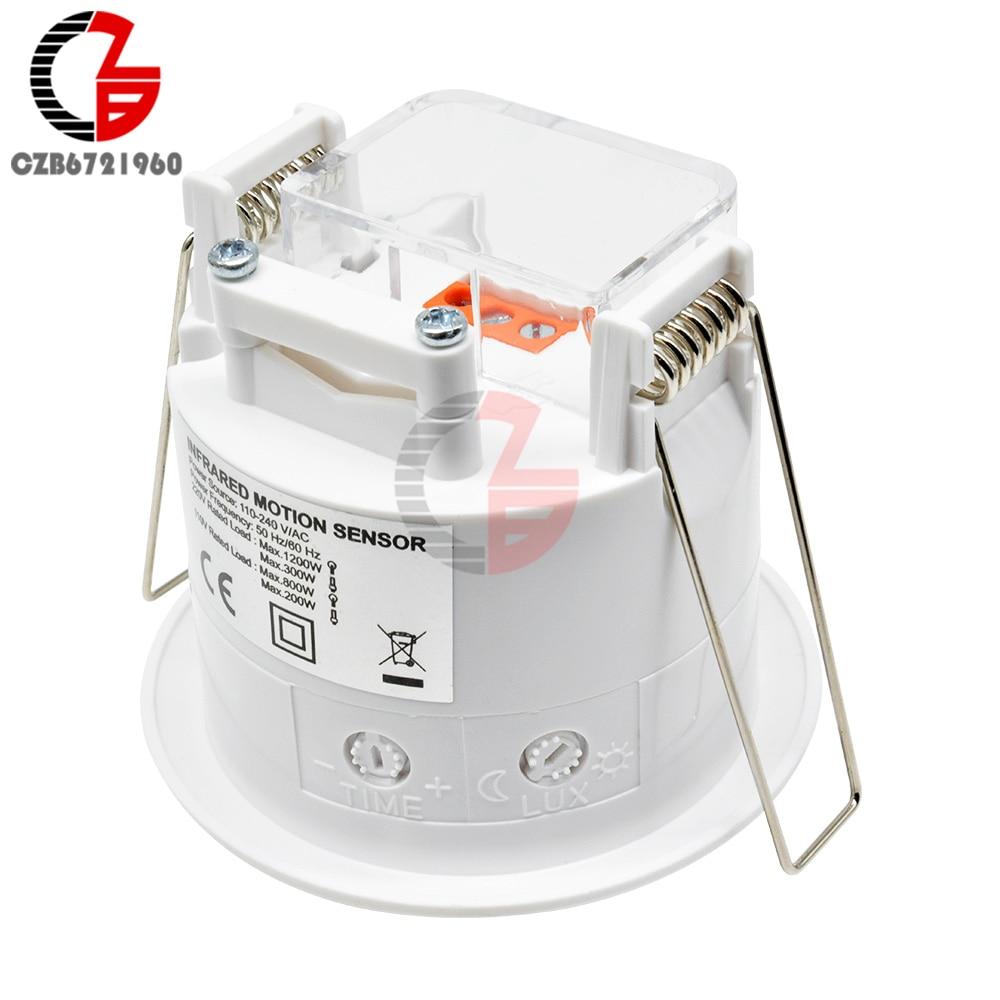 AC 220 В мини 360 градусов Потолочный PIR датчик движения переключатель ИК инфракрасный индукционный датчик детектор контроллер переключатель светодиодный светильник