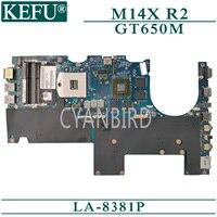 Kefu LA-8381P original mainboard para dell alienware m14x r2 com gt650m portátil placa-mãe