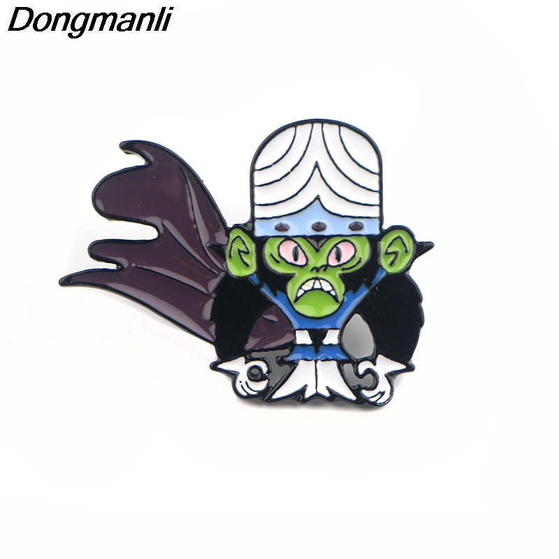 P4416 Dongmanli Anime Devil Metal Enamel Pins And Brooches For Women Cartoon Lapel Pin Backpack Bags Badge Gifts