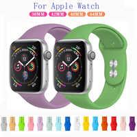 Silikon Pulseira Zubehör Für apple Uhr 4 band 38mm 42mm Handgelenk Armband für Iwatch serie 4 40mm 44mm apple uhr band