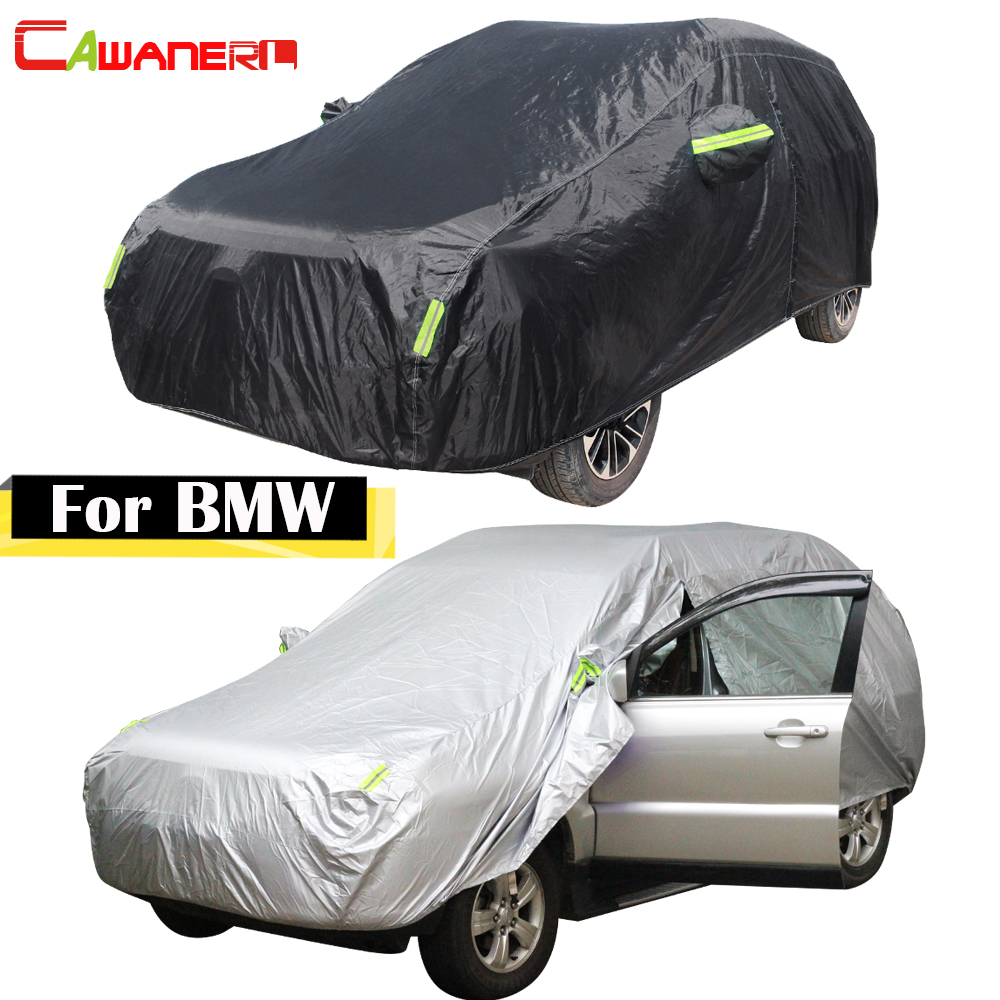 Cawanerl For BMW 1 3 5 6 7 Series M3 M5 X3 X5 X6 Waterproof Car Cover Outdoor Sun Anti UV Rain Snow Dust Protection Auto Covers image