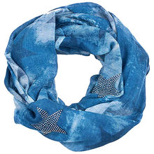Pentagram diamonds dyeing blue Scarves Women Winter Star Scarf Outerwear Keeping Warm wraps pañuelos de mujer para el cuello #BB(China)