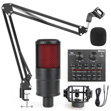 Profession studio Microphone for PC Computer Recording Home Karaoke Condenser Microphone Phantom Power Sound Card Voice Changer