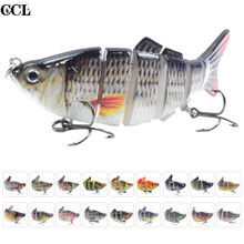 CCLTBA Sink Shad Wobbler Fishing Lures 10cm 16.5g Multi Jointed Swimbait Lure Hard Segmented Bait Pike Bass Musky Fishing Tackle