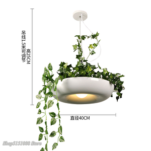 Image 5 - Nordic Plant Pendant Lights DIY Sky garden Led Lamp Flower Pot Hanging Lamp Dining Room Restaurant Lighting Fixtures Home Decor