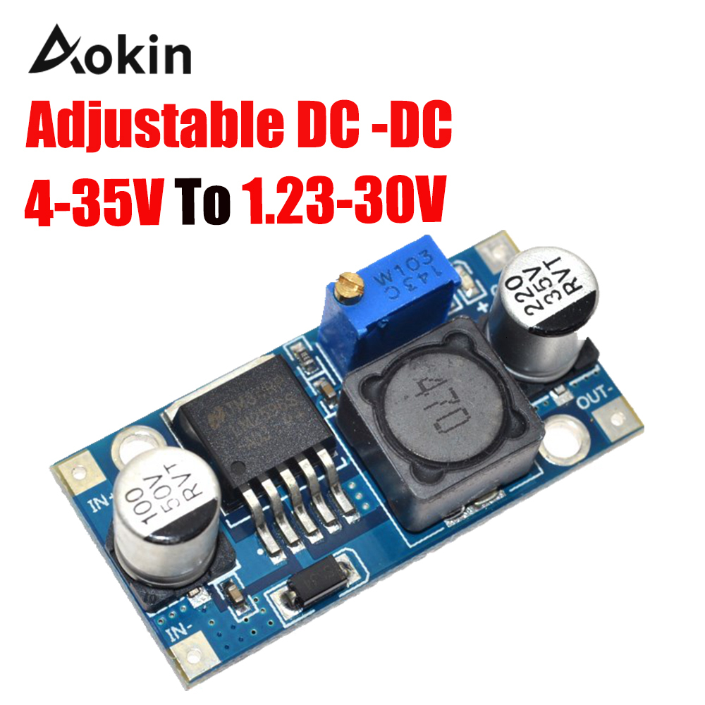 <font><b>DC</b></font> LM2596 LM2596S 4-35 <font><b>V</b></font> adjustable step-down power <font><b>supply</b></font> module <font><b>DC</b></font> 3A Max Output 1.23 <font><b>V</b></font>-<font><b>30</b></font> <font><b>V</b></font> image