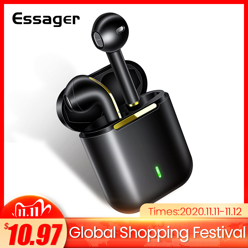 Essager J18 TWS Wireless Headphone Bluetooth Earphone Headset True Wireless Earbuds For iPhone 12 Pro Max Handsfree Ear Buds