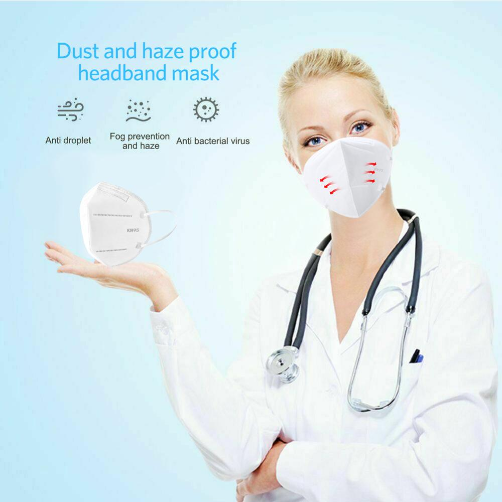 Image 2 - 20PCS KN95 Masks Non woven Anti Dust Mouth Face Cover Safety  Protective Earloops Face Mouth mask K n95 mask DustproofMasks   -