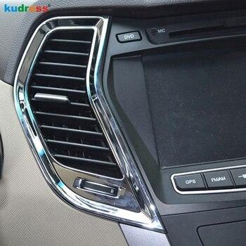 For Hyundai Santa Fe 2013 2014 2015 ABS Matte Air AC Vent Trim Interior door handle cover Trim Car Accessories