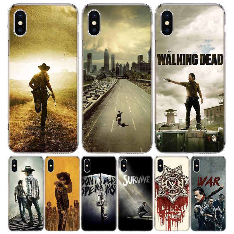 The Walking Deads Cover Phone Case For Iphone 11 12 Mini Pro 7 6 X 8 6S Plus XS MAX XR 5S SE 10 9 Art TPU Coque Capa Shell