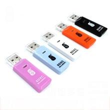 Lector de tarjetas Mini USB 2,0 de alta calidad para tarjeta Micro SD adaptador de enchufe y tarjeta TF juego colorido elegir para tableta PC